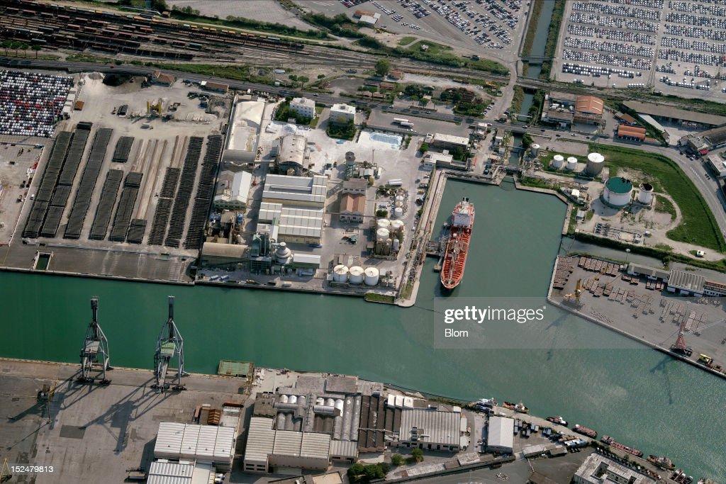 An aerial image of Port Of Livorno Livorno