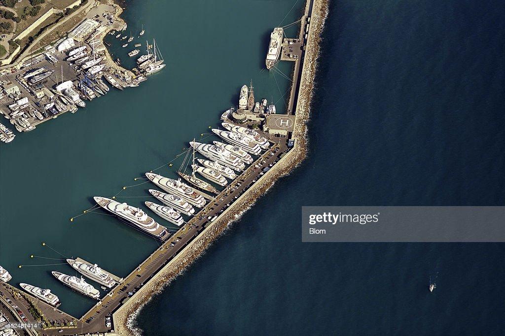 An aerial image of Port Vauban Antibes