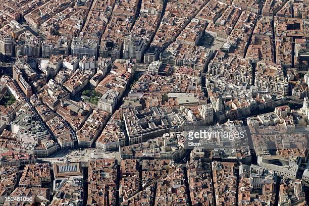 An aerial image of Puerta Del Sol Madrid