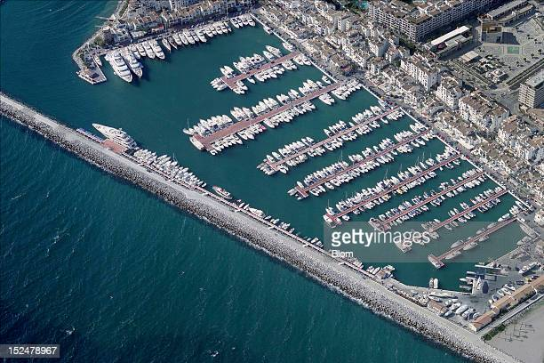 An aerial image of Puerto Banus Marbella