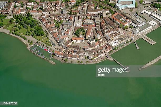 An aerial image of Seaside Friedrichshafen