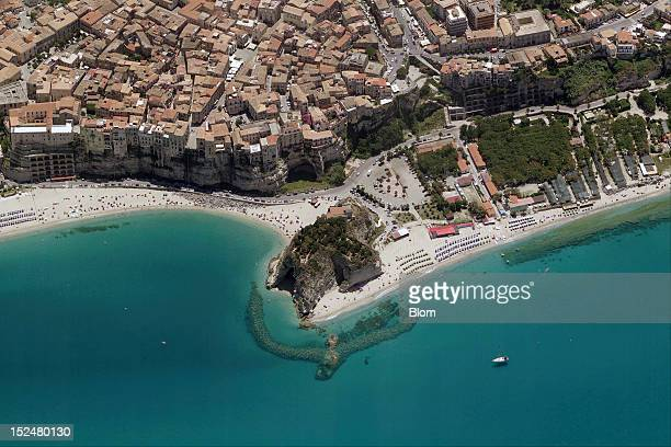 An aerial image of Seaside Tropea