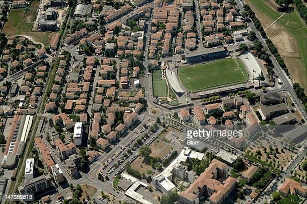 An Aerial image of Stadio Porta Elisa Lucca