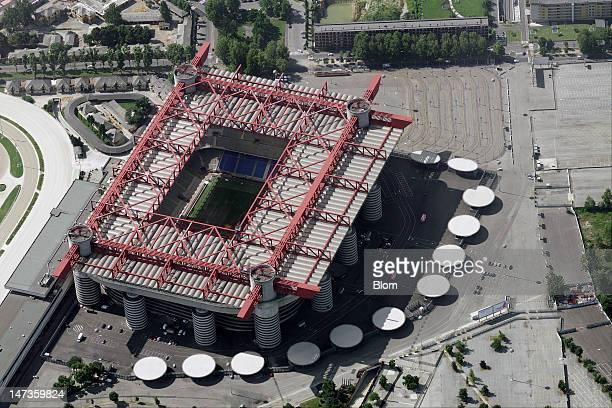 An Aerial image of Stadio San Siro Milan