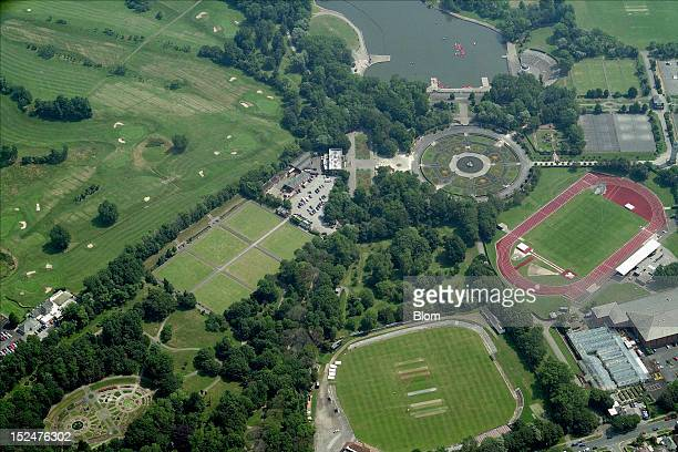An aerial image of Stanley Park Blackpool