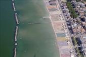 An aerial image of Valverde Beach Rimini