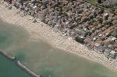 An aerial image of Viserba Beach Rimini