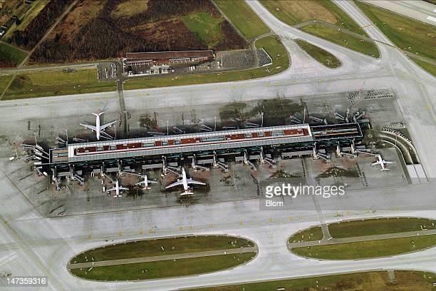 An aerial image of Zürich Airport Zürich