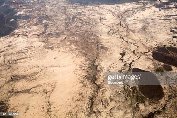 An aerial photograph shows the South Gobi desert near Dalanzadgad Omnogovi province Mongolia on Monday June 16 2014 Mongolia growth has been held up...