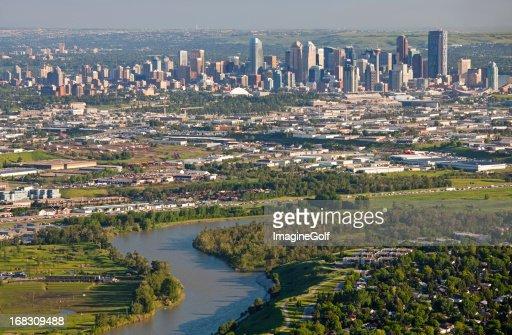 An aerial shot of Calgary in Canada