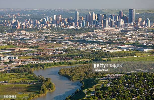 An aerial shot of Calgary in Canada