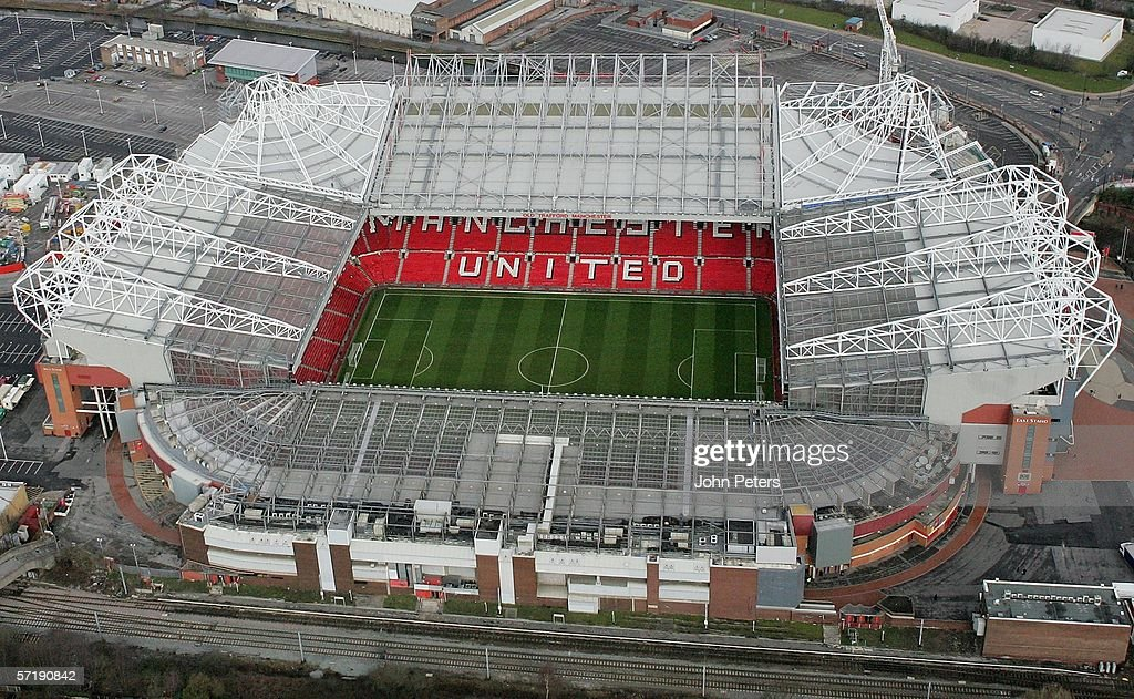 Old Trafford aerial shots : News Photo