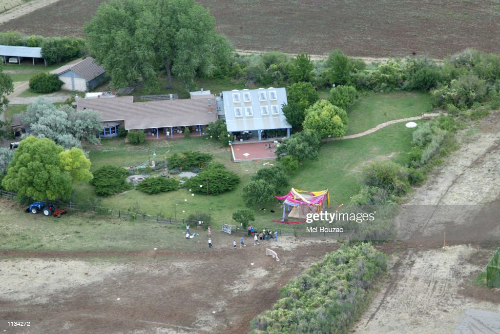 An aerial view of actress Julia Robert's ranch is seen on July 6, 2002 in Taos, New Mexico. Roberts married cameraman, Danny Moder, during a Fourth of July ceremony.