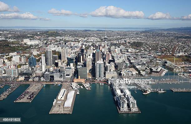 An aerial view of Auckland City Centre on June 4 2014 in Auckland New Zealand