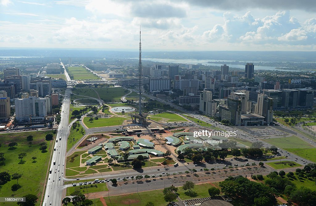 An aerial view of Brasilia venue for the 2014 FIFA World Cup on December 13, 2012 in Brasilia, Brazil.