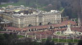 An aerial view of Buckingham Palace March 25 2007 in the heart of London England