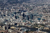 An aerial view of central London on October 21 2010 in London England