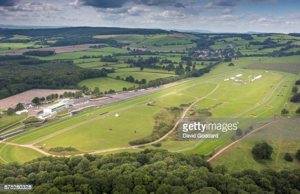 An aerial view of Chepstow Race Course on August 10 2017 in Chepstow Wales