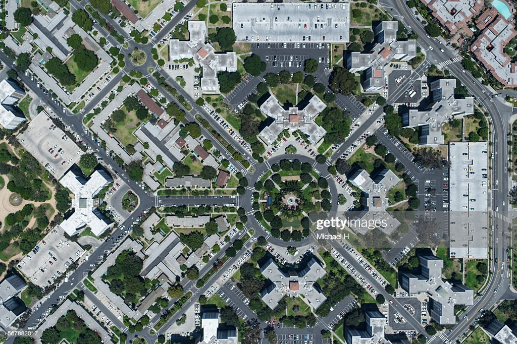 An aerial view of cityscape, LA : Stock Photo