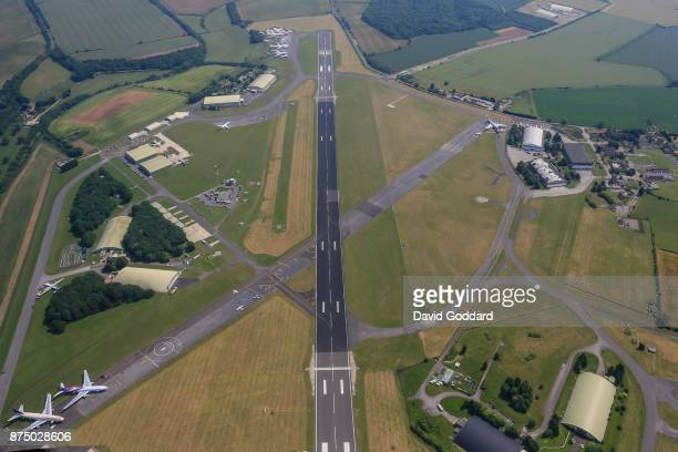 An aerial view of Cotswold Airport formerly known as RAF Kemble on June 21st 2017 in Cirencester England