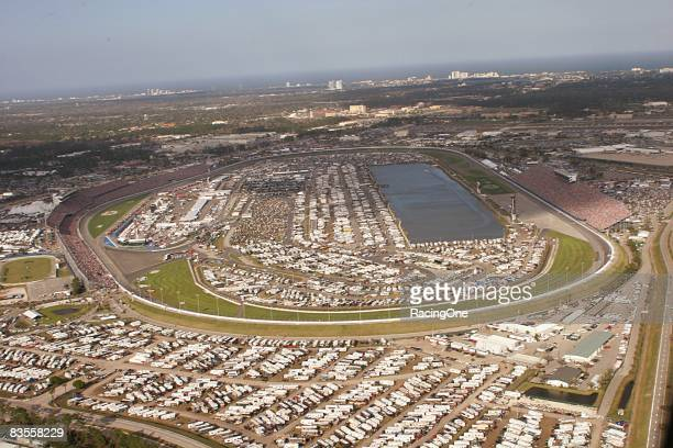 An aerial view of Daytona International Speedway