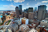 Aerial view of buildings in downtown Boston Massachusetts