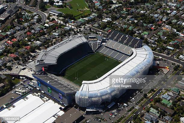 An aerial view of Eden Park on October 7 2011 in Auckland New Zealand