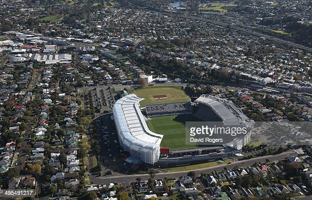 An aerial view of Eden Park Stadium on June 4 2014 in Auckland New Zealand