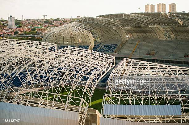 An aerial view of Estadio das Dunas on November 14 2013 in Natal Brazil