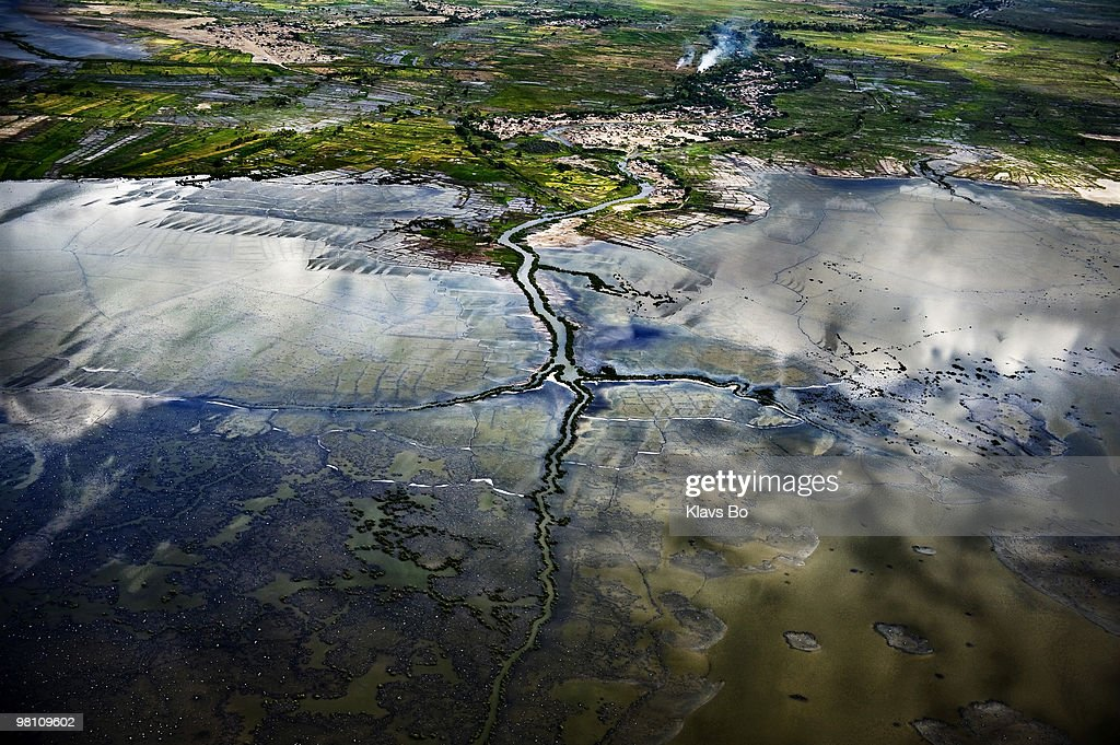 An aerial view of flooded fields south of Gonaives six weeks after the hurricane Ike hit the island. During the first eight months of 2008 Haiti got hit by two tropical storms and two hurricanes leaving more than a million people homeless.