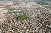 An aerial view of homes June 12 2009 in Henderson Nevada A report by RealtyTrac Inc found that for the month of May Nevada had the highest...
