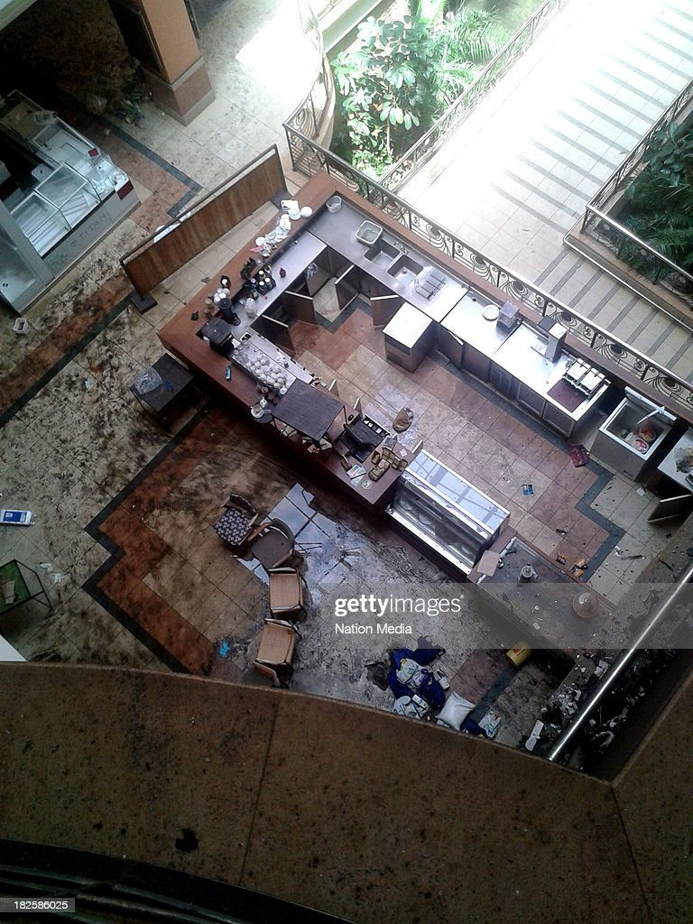(Not for sale to The Star (Kenya), Capital FM, The People, Citizen TV, Kenya Broadcasting Corporation) An aerial view of inside Westgate mall on September 30, 2013 in Nairobi, Kenya. The Mall was hit with a terrorist attack on September 21, 2013. Ten to fifteen gunmen from the extremist group Al-Shabab entered the mall and opened fire at random on shoppers.