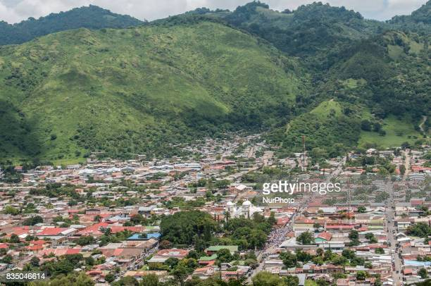 An aerial view of Jinotega a small city in the north of Nicaragua Photo taken on 14 September 2011