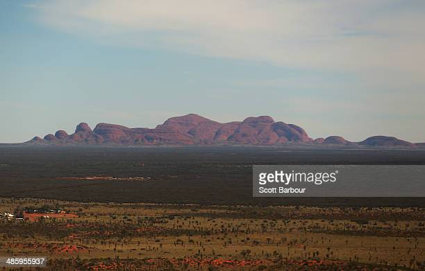 An aerial view of Kata Tjuta also known as Mount Olga on April 21 2014 in Ayers Rock Australia The Duke and Duchess of Cambridge are on a threeweek...