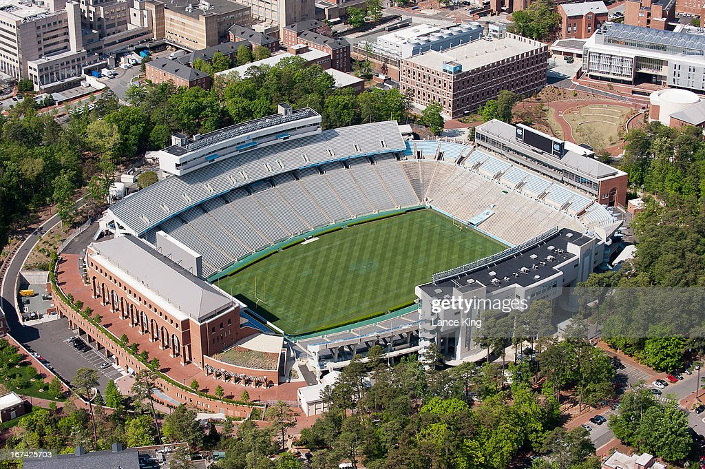An aerial view of Kenan Stadium on campus of the University of North Carolina on April 21, 2013 in Chapel Hill, North Carolina.