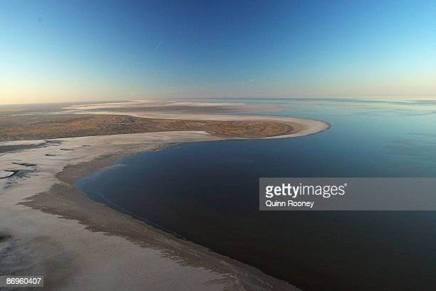 An aerial view of Lake Eyre during the Great Australian Cattle Drive preview on May 7 2009 in Oodnadatta Australia The Great Australian Cattle Drive...