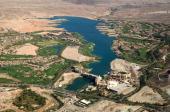 An aerial view of Lake Las Vegas November 6 2008 in Henderson Nevada