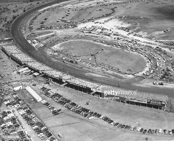LANGHORNE PA An aerial view of Langhorne Speedway and a huge crowd during a race there Langhorne is considered the first dirt racetrack specifically...