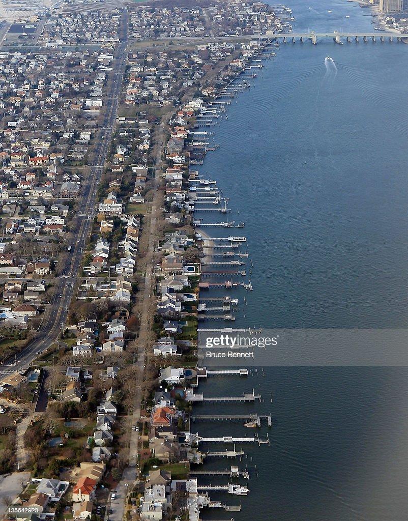 An aerial view of Long Beach New York photographed on November 30 2011 in New York City