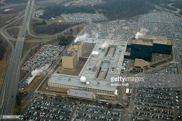 An aerial view of National Security Administration headquarters in Fort Meade Maryland