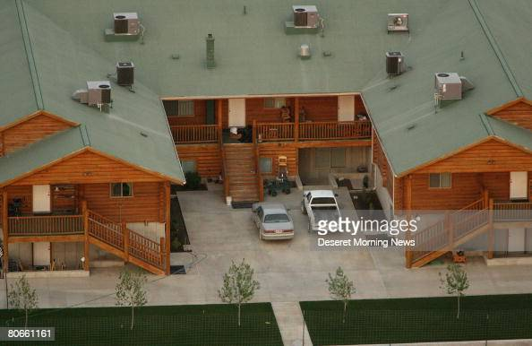 An aerial view of one of the homes on the Yearning for Zion compound owned by the Fundamentalist Church of Jesus Christ of Latter Day Saints April 8...