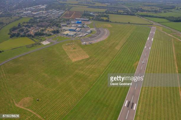 An aerial view of Oxford Airport also known as Kidlington Airport on June 21 2017 in Kidlington England