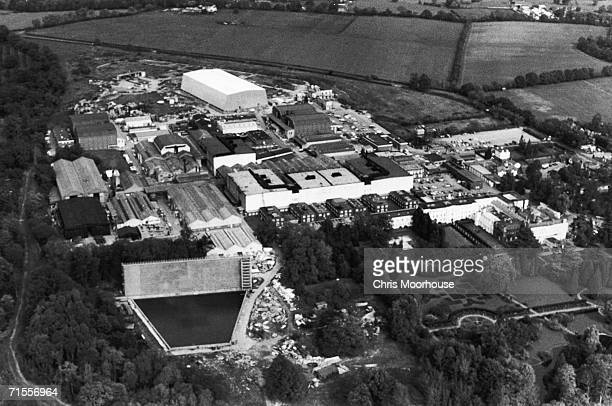 An aerial view of Pinewood Studios at Iver Heath Buckinghamshire 5th October 1976