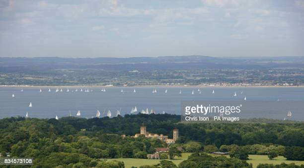 An aerial view of Queen Victoria's former retreat Osbourne House on the Isle of Wight