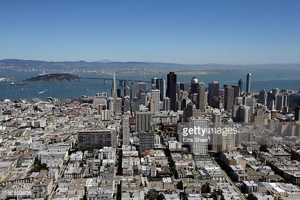 An aerial view of San Francisco on September 7 2013 in San Francisco California