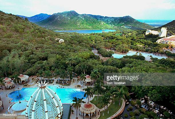 An aerial view of Sun City the entertainment centre popular with gamblers and tourists built by the hotel magnate Sol Kerzner in South Africa