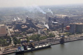 An aerial view of the ArcelorMittal factory on March 32012 in GentBelgium