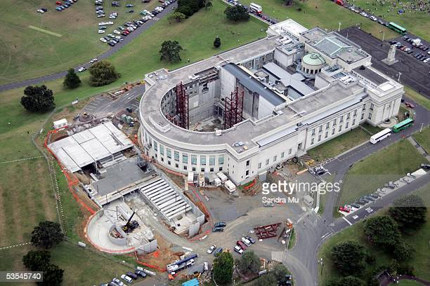 An aerial view of the Auckland Museum Sunday February 13th 2005