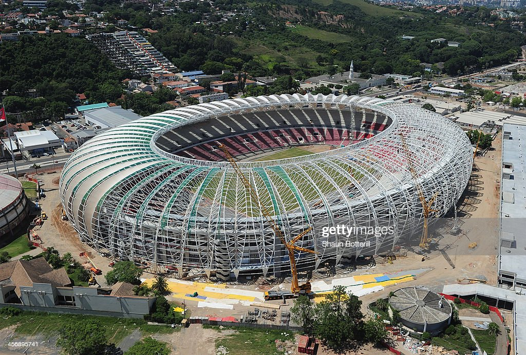 An aerial view of the Beira Rio stadium venue for the FIFA 2014 World Cup Brazil on December 15, 2013 in Porto Alegre, Brazil.
