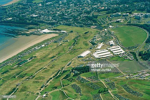 An aerial view of the chamionship during the 2000 Open Championship held on the Old Course at St Andrews on July 21 2000 in St Andrews Scotland